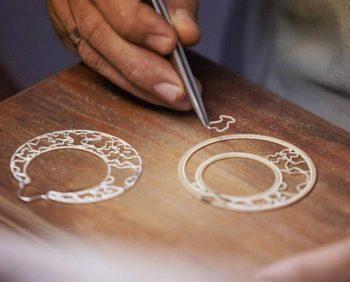 filigrana con soporte - pendientes en plata