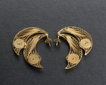 filigrana con soporte - pendientes de oro