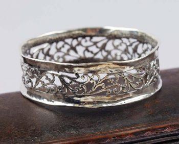 filigrana abierta - brazalete de plata