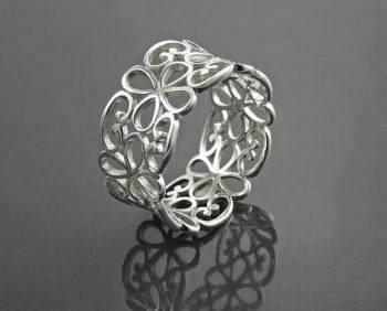 filigrana abierta - anillo de plata